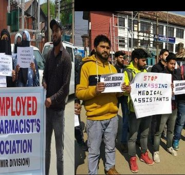 Pharmacists and students protesting to demand justice to the Diploma In pharmacy degree holders