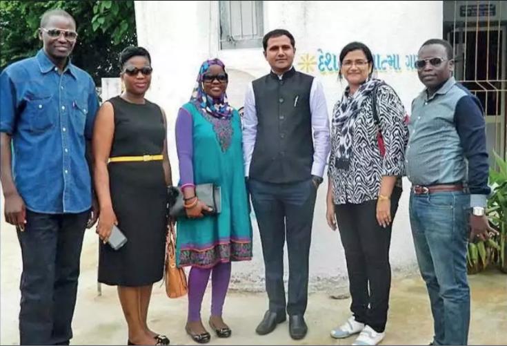 Foreign Delegates in Punsari Village