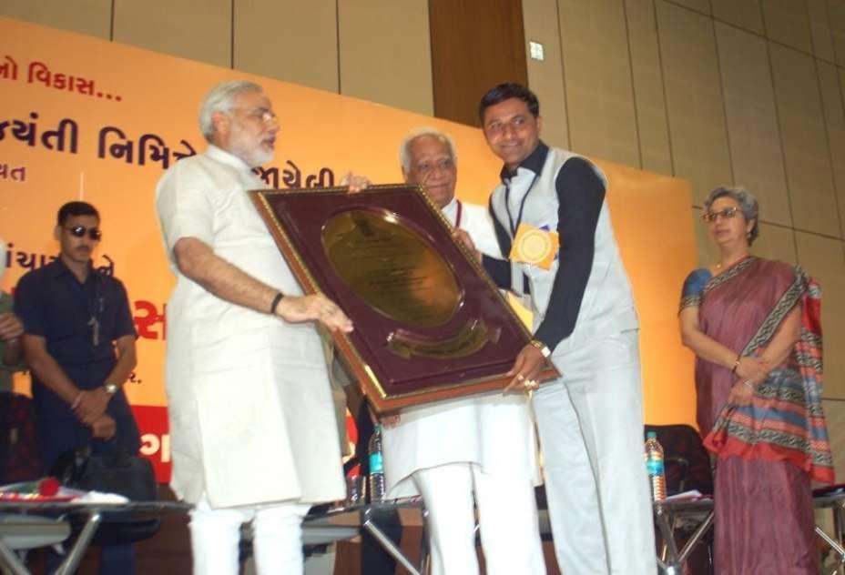 Himanshu Patel with Narendra Modi