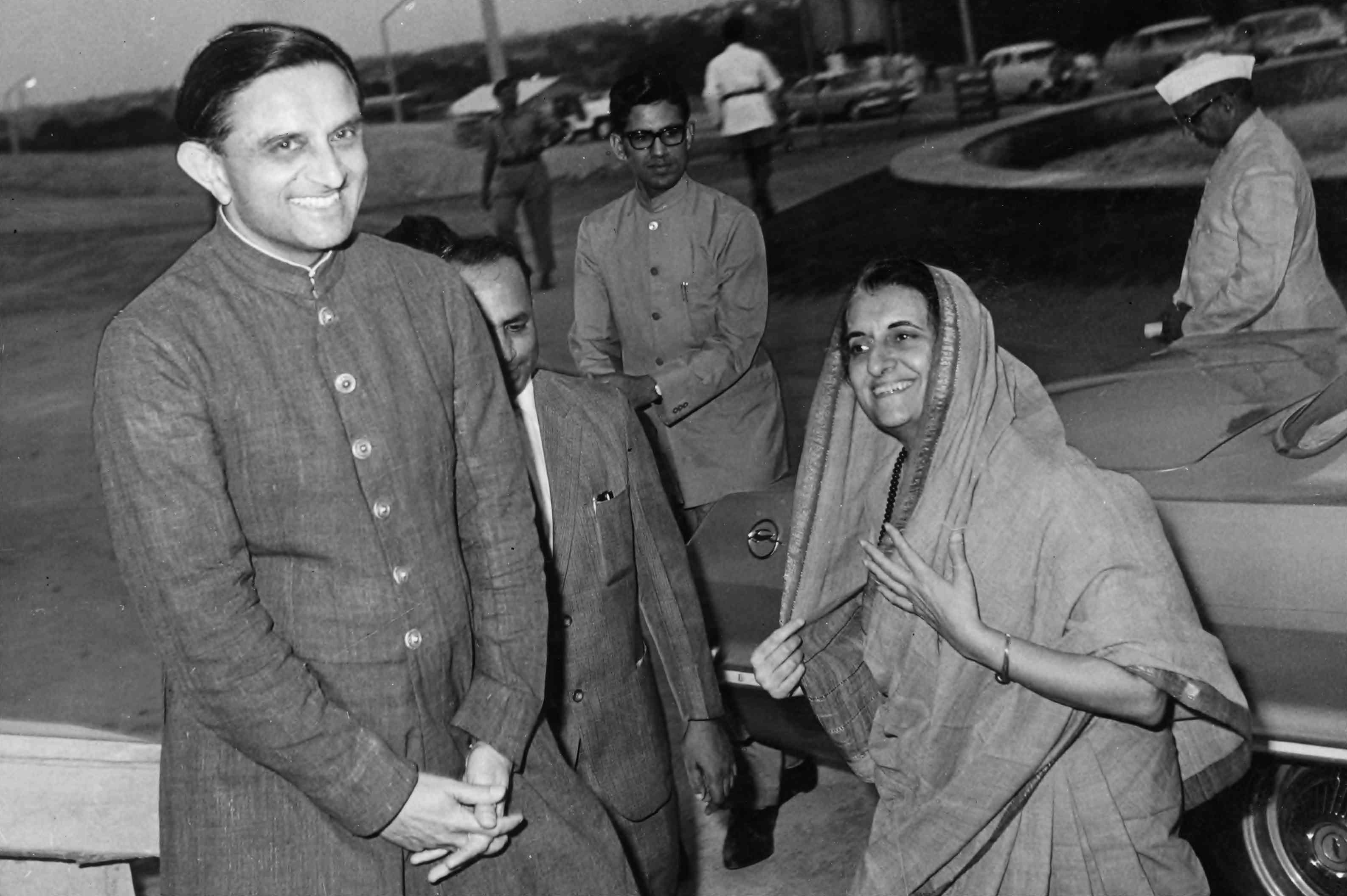 Vikram Sarabhai and Indira Gandhi