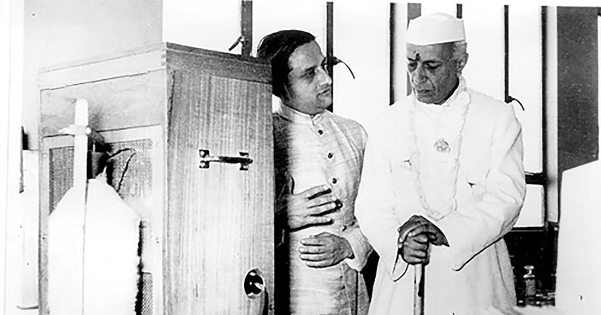 Vikram Sarabhai and Jawahar Lal Nehru
